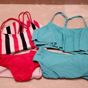 2 old navy bathing suits